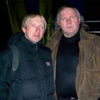 With composer Anatoly Dumitrash, Kyshyniv 01.03.2004