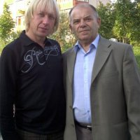 With the poet-composer Anatoly Zhytkevych
