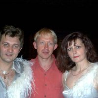 With duet ''Swans of love''after the concert